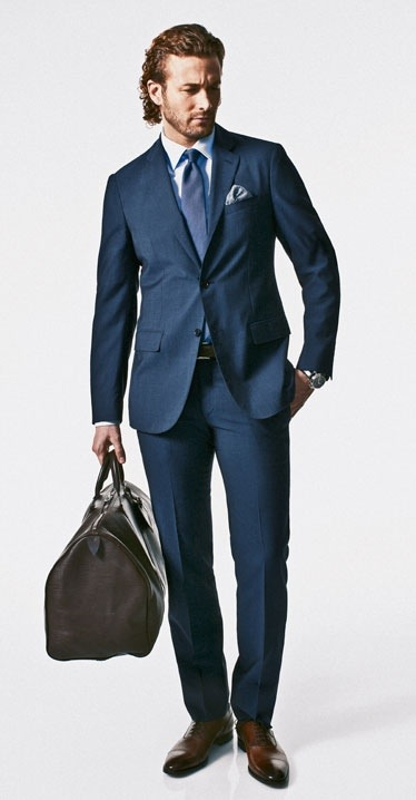 The essentials the navy suit the man in a suit for Shirt color navy suit